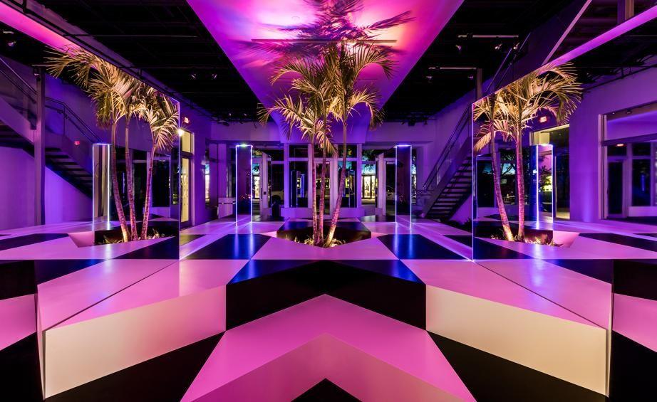 Miami Vice Themed Decor Neon Jungle