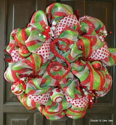 how to make mesh ribbon bows - Google Search | christmas ...