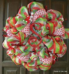 how to make mesh ribbon bows - Google Search | christmas ...
