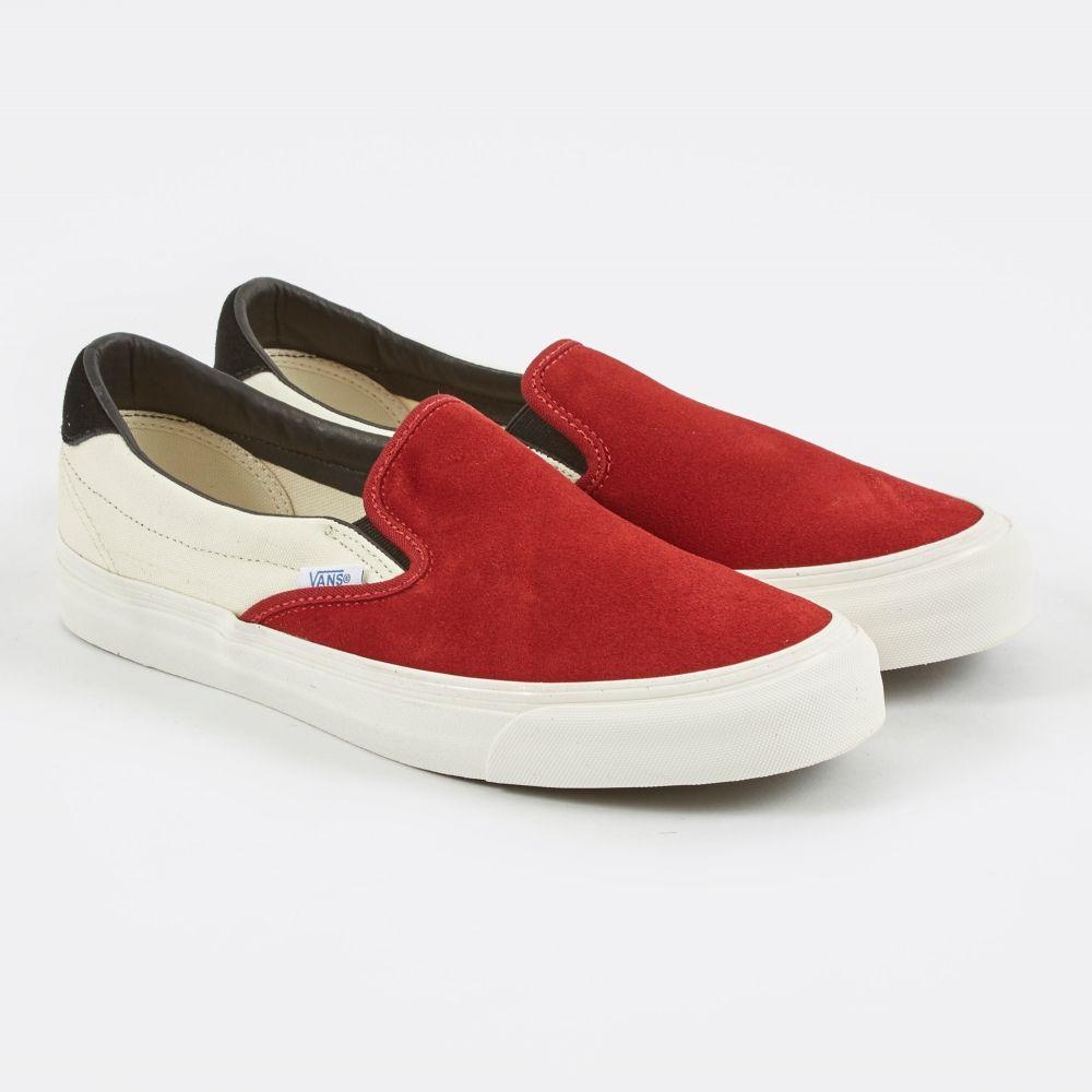 83001dd01a Vans OG Slip-On 59 - Red Dahlia Marshallow Black (Image 1)