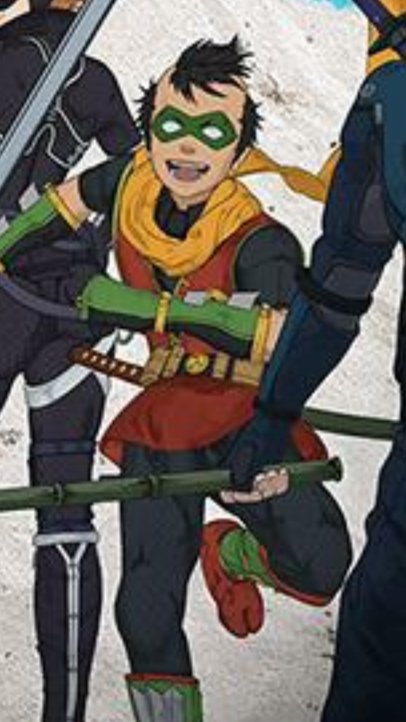 Robin Damian Wayne My Trained Assassin Son What Did They Do To You I M Choking Oh My Gosh Someone Get This Boy Help Damian Wayne Batman Ninja Robin Cosplay