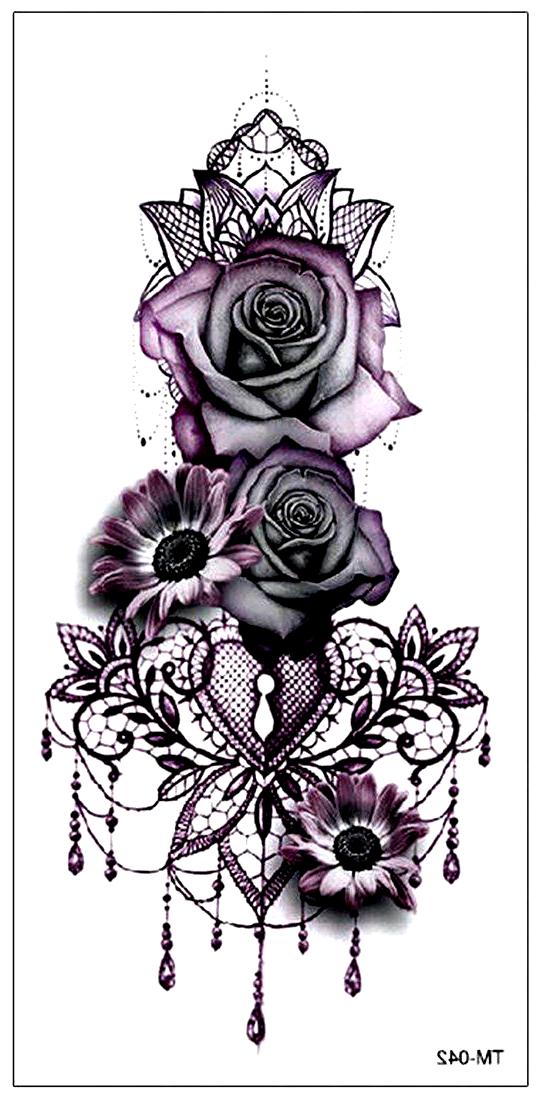 Gothic Rose Mandala Chandelier Back Tattoo Ideas For Women Traditional Vintage Cool Unique Geometric Black Fl Flower Wrist Tattoos Pattern Tattoo Back Tattoo