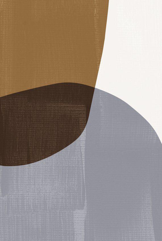Mid Century Modern Art Set Abstract Mid Century Art Prints Light Brown Abstract Geometric Prints Ovals Mode Geometric Art Prints Geometric Art Art Wallpaper