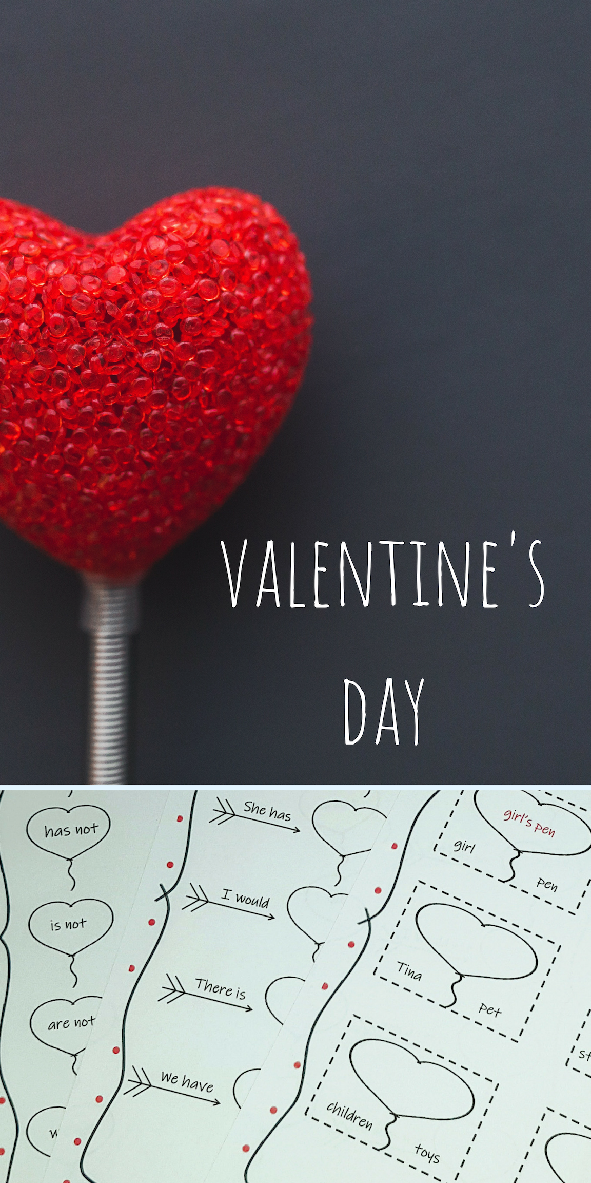 Valentine S Day Ideas Valentines Possessives Literacy Centers [ 2304 x 1152 Pixel ]