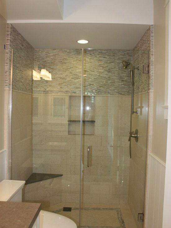 Great combination of shower tile - Courtesy of LuAnn Development