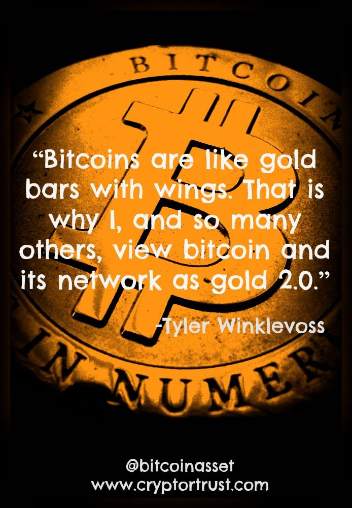 Bitcoin Quote Simple Bitcoin Quote By Tyler Winklevoss Visit Us At Wwwcryptortrust