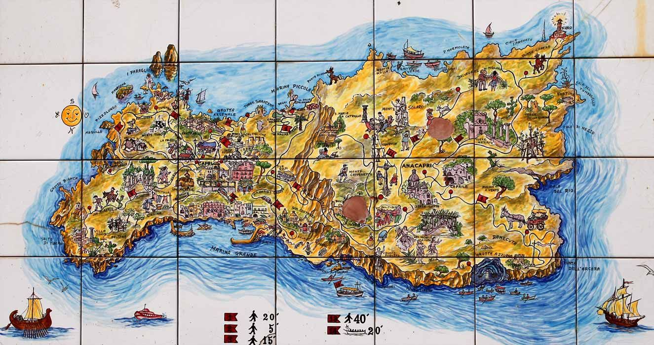 Tile map of Capri Things to do in Napoli Pinterest Capri and Italy