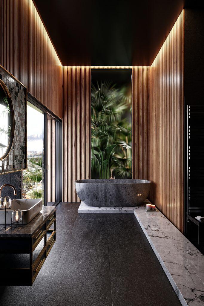 Best Of Blender Artists 2019 Week 46 Blendernation Modern Bathroom Design Bathroom Design Luxury Wooden Bathroom