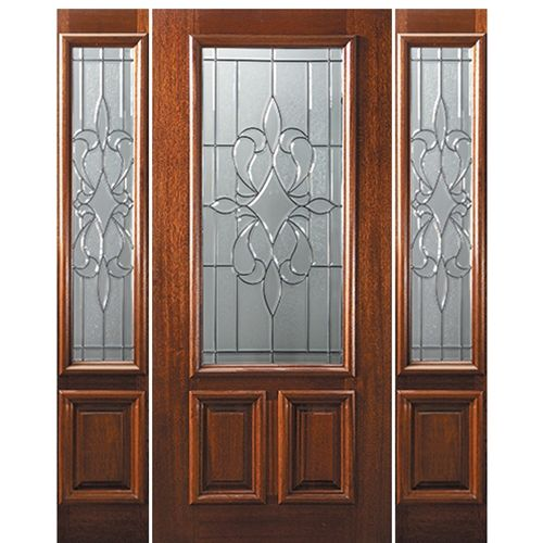 Dg Mah New Orleans 23l 68 1 2 Door Design Wood Mahogany Entry Doors Wood Exterior Door