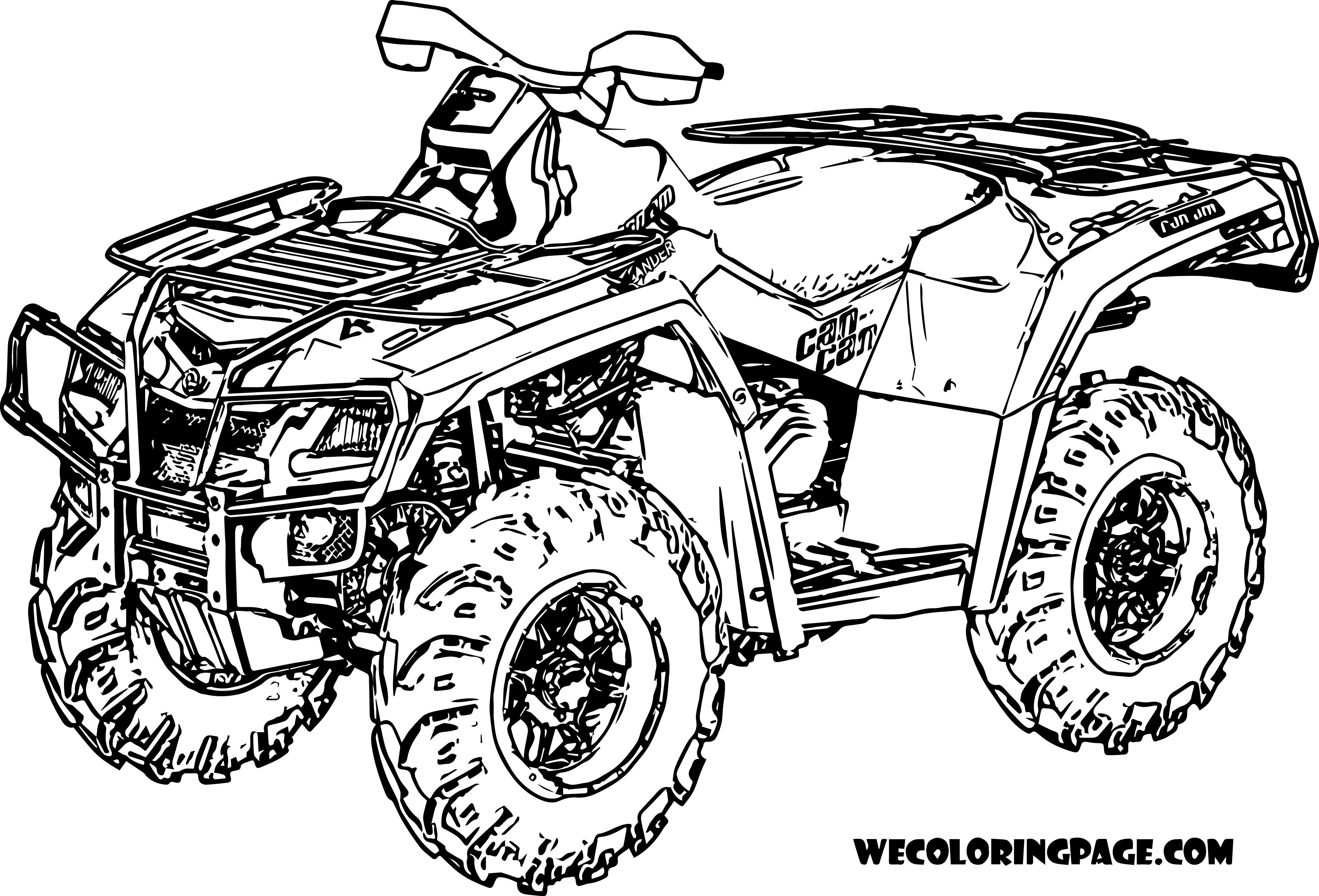 four wheeler coloring pages # 0