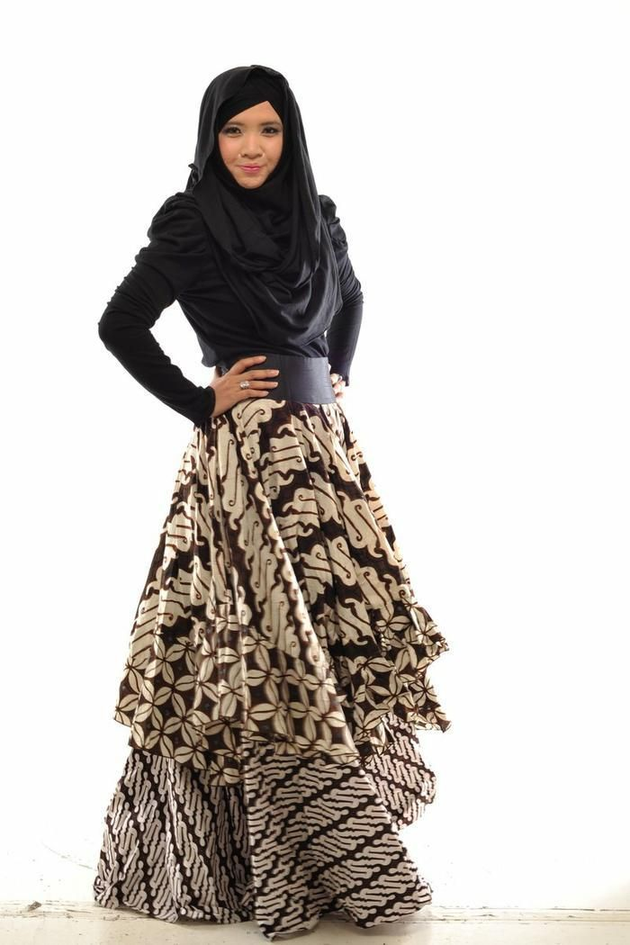 Model Baju Muslim Batik Kombinasi Busana Muslim Hijab Fashion