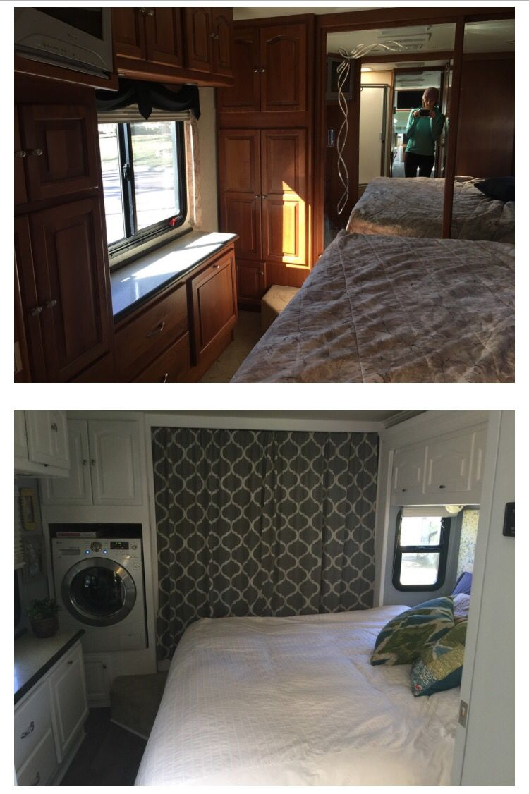 Upgrade for a 5th wheel bedroom. | Remodeled campers ...