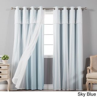 Overstock Com Online Shopping Bedding Furniture Electronics Jewelry Clothing More Curtains Lace Curtain Panels Baby Blue Curtains