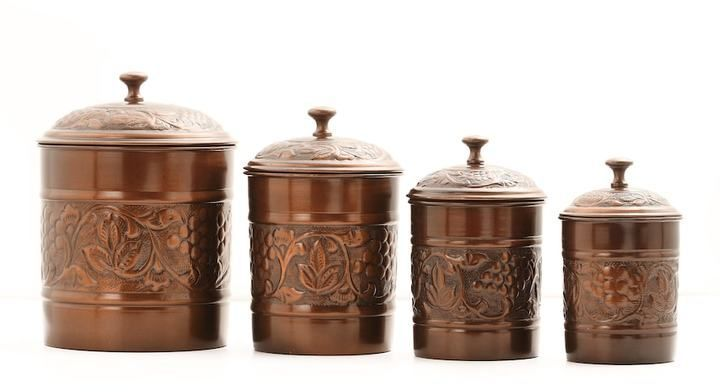 Kitchen Canister Set, Brown | Kitchen Canister Sets, Kitchen Canisters And  Canister Sets