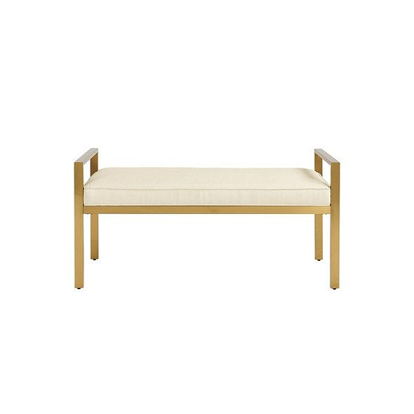 Brilliant Darby Metal Upholstered Bench For Home Upholstered Bench Lamtechconsult Wood Chair Design Ideas Lamtechconsultcom