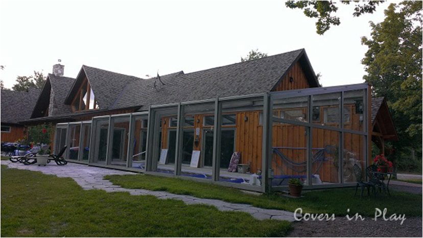Pool Cover Retractable Pool Enclosure The Enclosure Is Designed To Meet Local Building Codes Since T Indoor Outdoor Pool Pool Enclosures Outdoor Pool