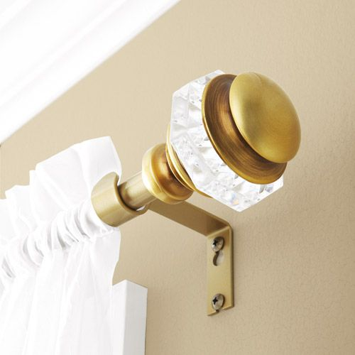 Better homes and gardens faceted antique brass curtain rod - Better homes and gardens curtain rods ...