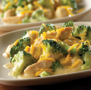 Prepare for ultimate cheesiness with this 2-Step Skillet Chicken Broccoli Divan.