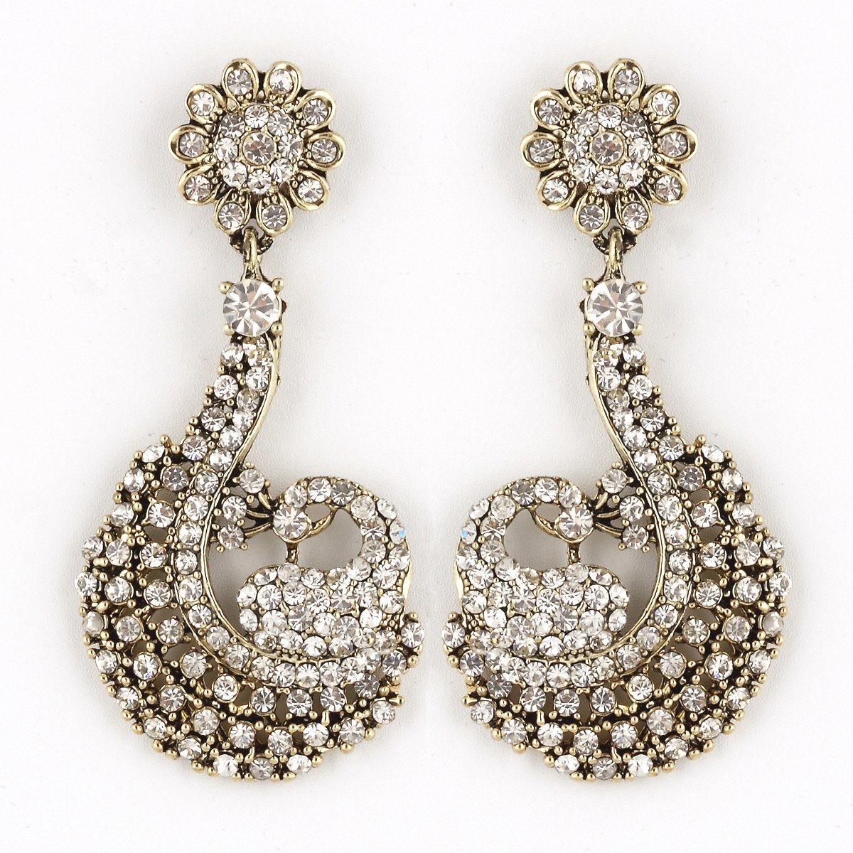 Designer Indian Earrings: Designer Diamond Earring Jewelry