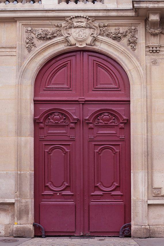 Paris Door Photograph Maroon Door Parisian Architecture Etsy Paris Door Parisian Architecture French Walls