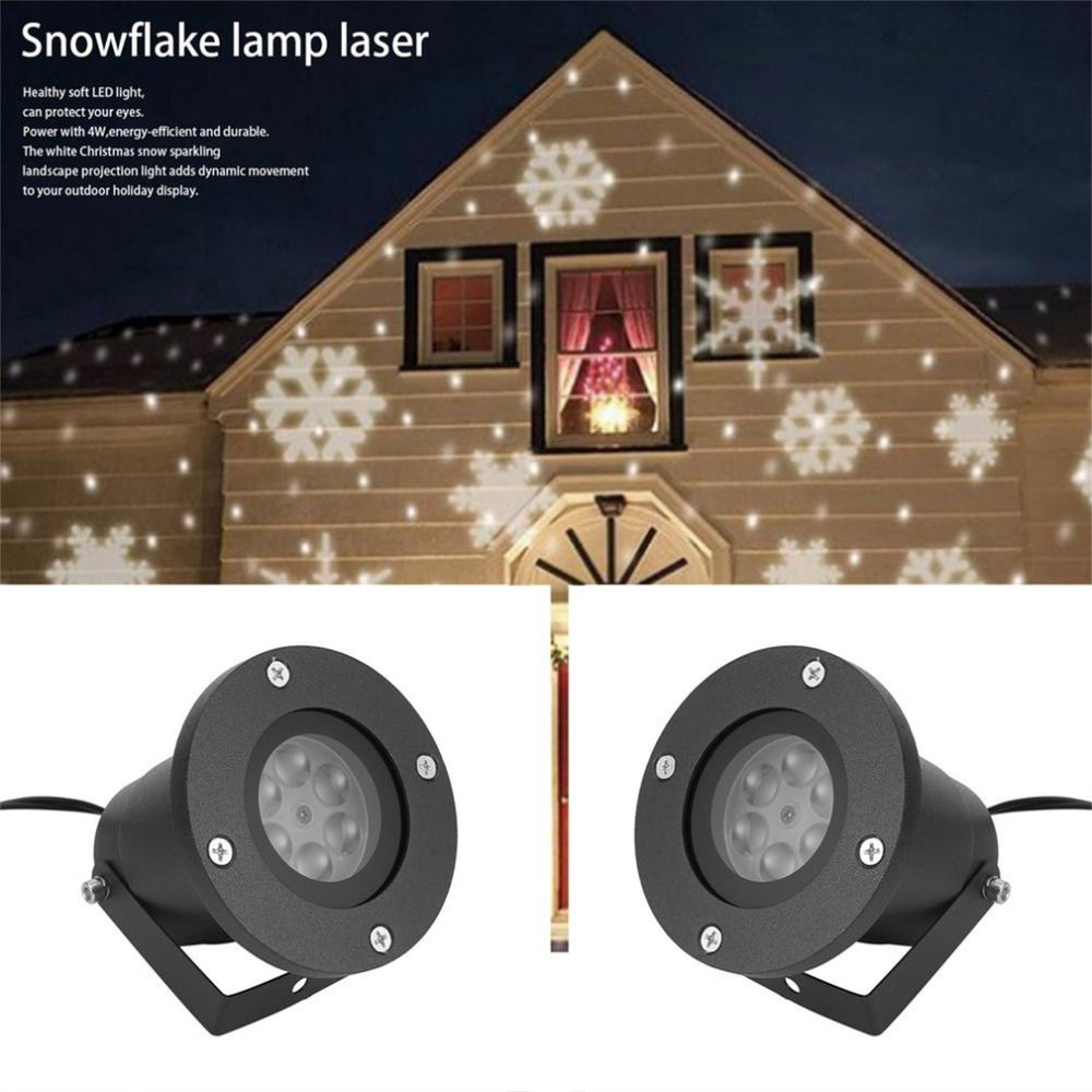Mini Holiday Decoration Waterproof Outdoor Indoor Moving Snow Laser Projector Lamps Snowflake Led St Holiday Lights Outdoor Outdoor Indoor Decor Holiday Lights