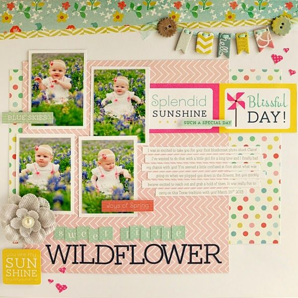 Sweet Little Wildflower by Ginger Williams for My Creative Scrapbook Kits