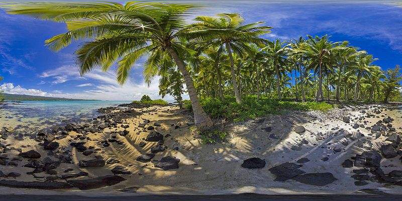 Take a stroll along Asau Bay, Samoa in the virtual reality tour in the description by Nick Hobgood