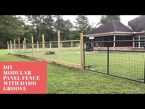 9 Modular Hogwire Panel Fence With Dado Groove Youtube In 2020 Hog Wire Fence Fence Diy Fence