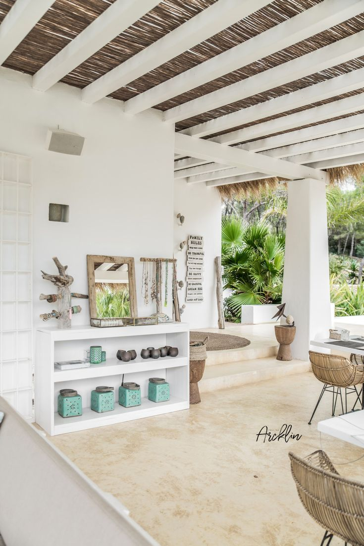 Pure House Ibiza Is An Amazing Boutique And Lifestyle Hotel In Ibiza Island In Spain Just A Paradise Beach House Interior Beach House Decor Beach House Design
