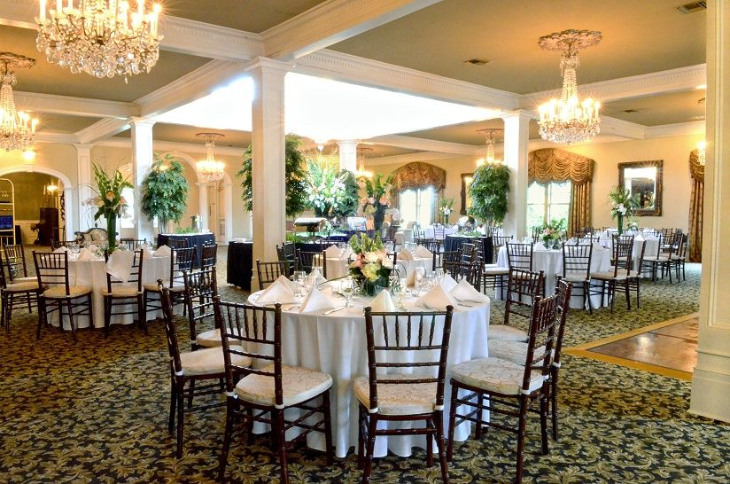 If it rains...move inside to a ballroom! Wedding theme