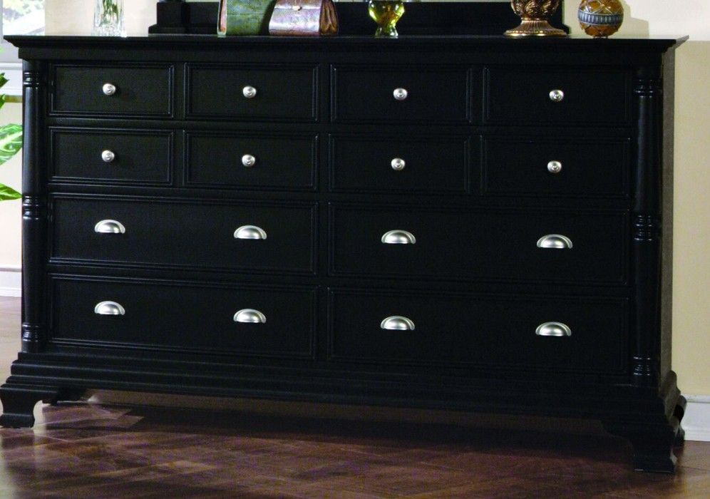Yuan Tai St Regis 12 Drawer Dresser In Black Finish 12 Drawer