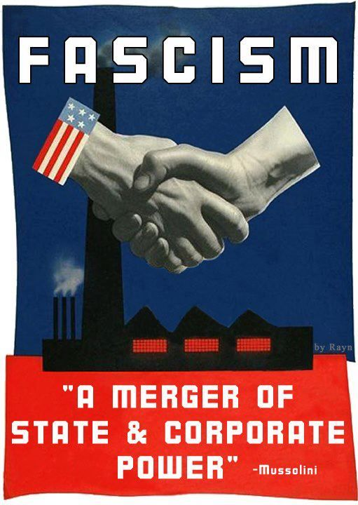 Image result for trump us government fascist corporatization images