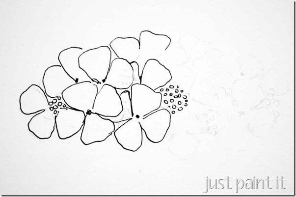 How To Draw Hydrangea 4 Flower Drawing Drawings Digital Art Journal