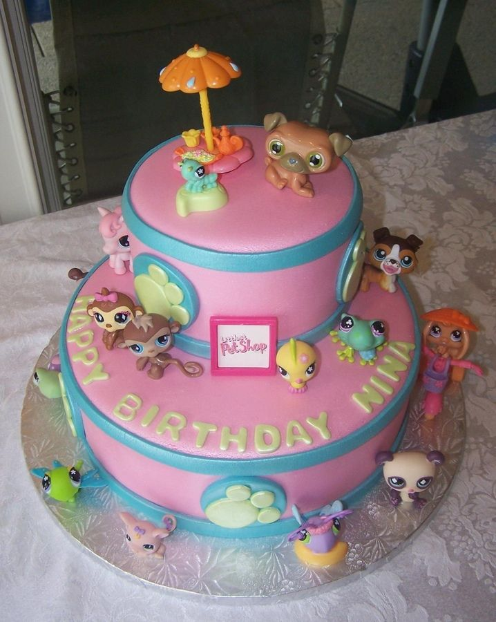 Outstanding The Littlest Pet Shop With Images Childrens Birthday Cakes Funny Birthday Cards Online Elaedamsfinfo