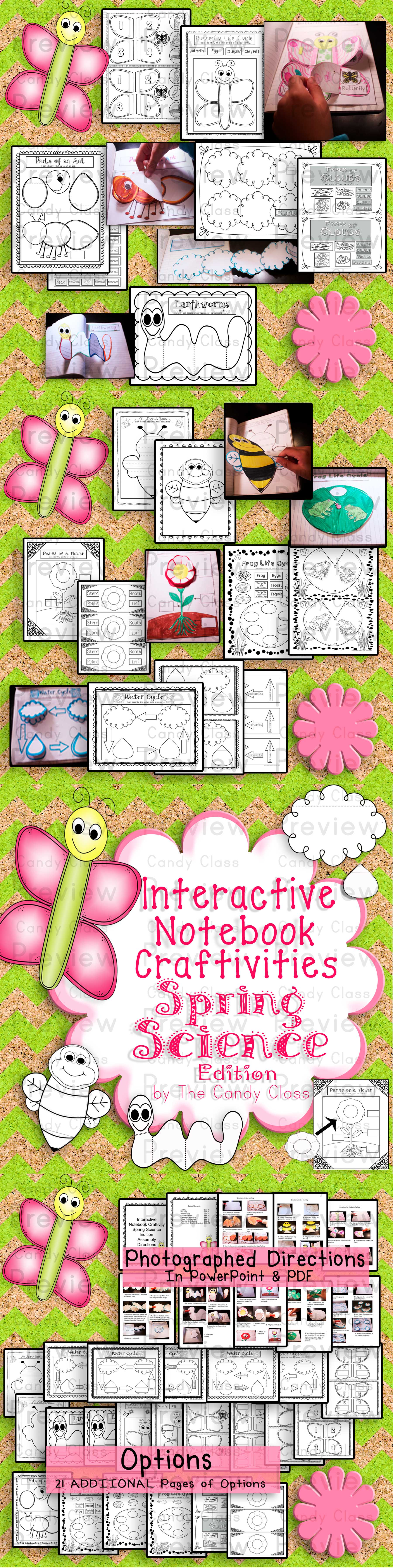 Interactive Notebook Craftivities Spring Science Edition- 40% off (only $3.60 right now) the first 24 hours, so on sale until Jan. 24th at 7:30 pm EST.