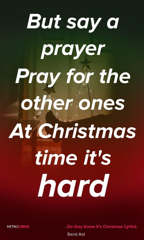 Do They Know Its Christmas Lyrics.Band Aid Do They Know It S Christmas Lyrics And Quotes