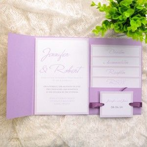 Affordable Customizable Wedding Invites With Pockets