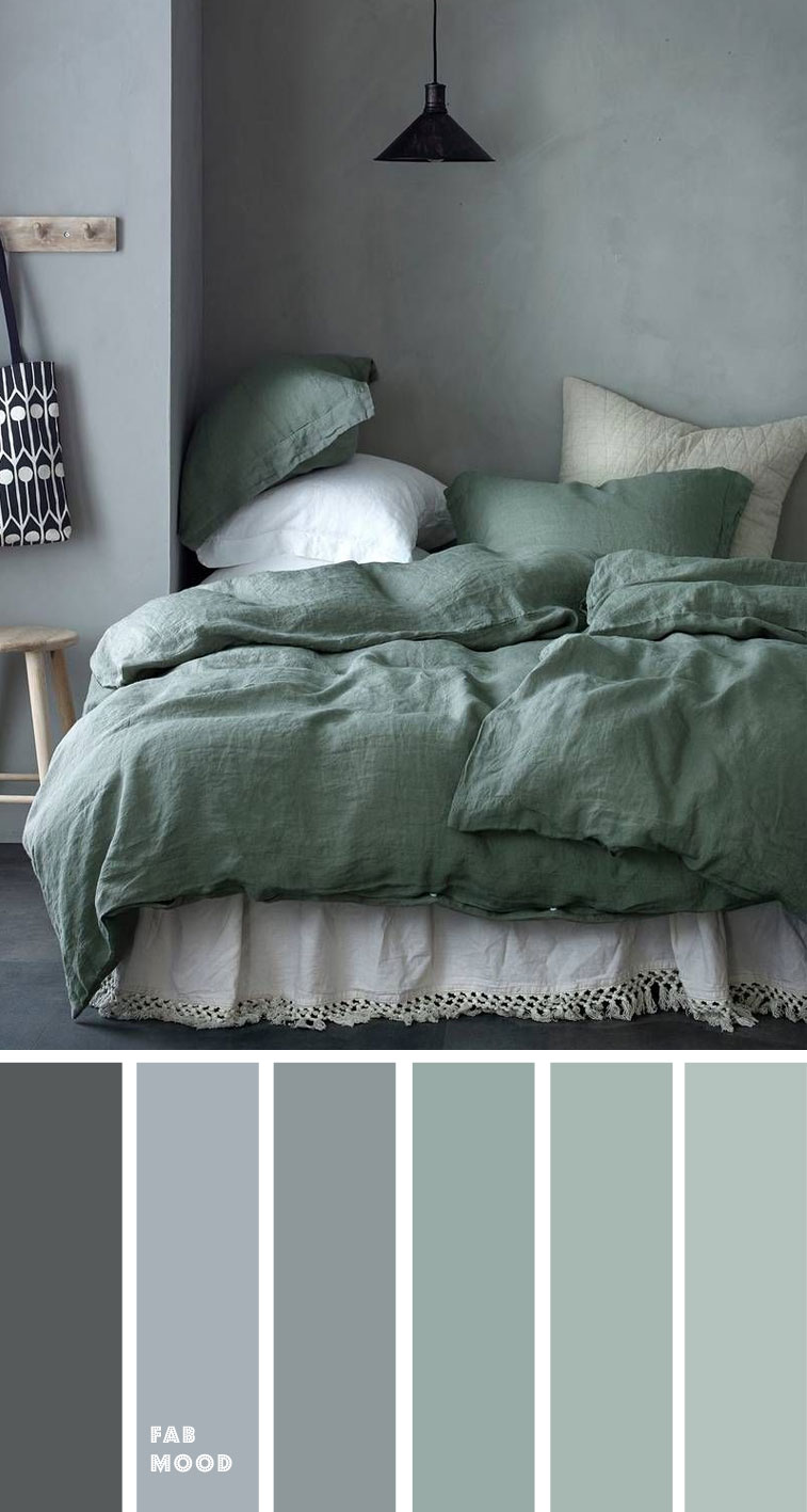 Grey Green Bedroom Color Palette Fabmood Wedding Colors Wedding Themes Wedding Colo In 2020 Grey Colour Scheme Bedroom Grey Green Bedrooms Bedroom Colour Palette