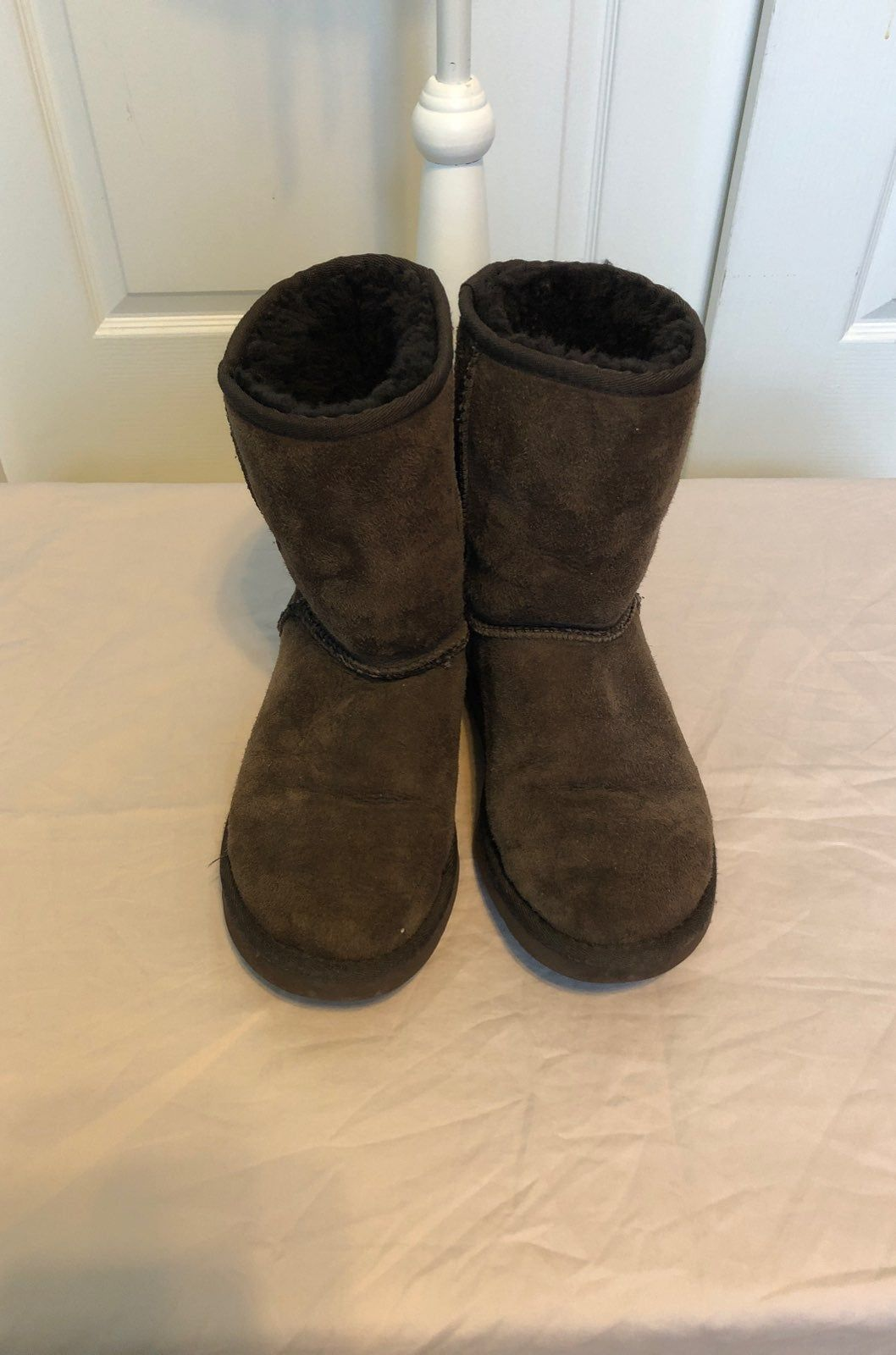 Chocolate Brown Ugg Boots. I wore these