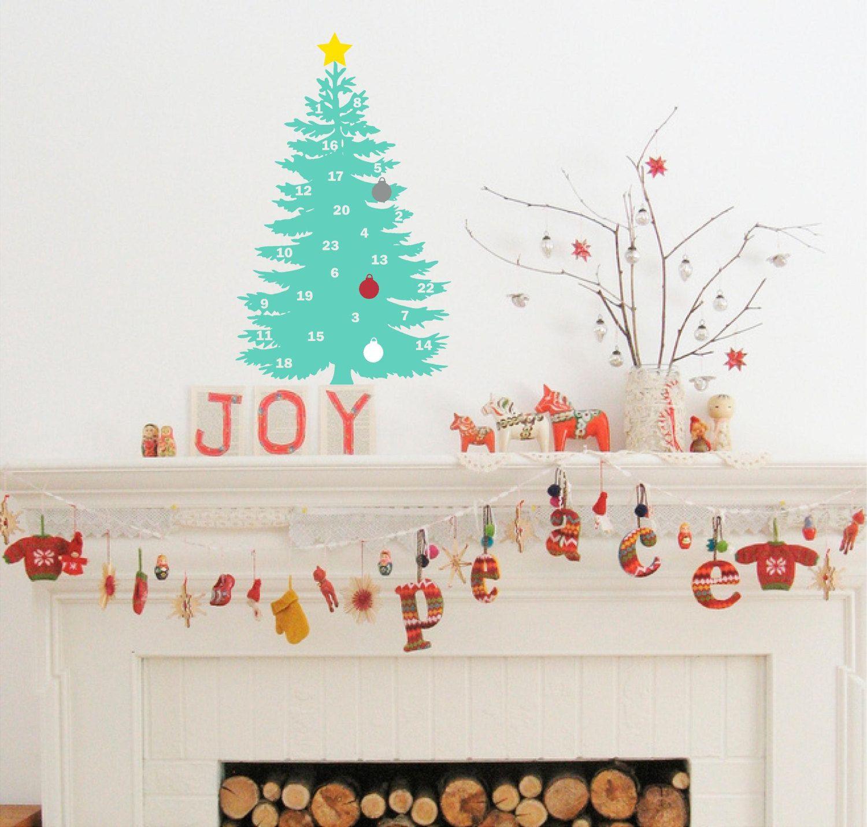 Christmas Tree Advent Calendar Advent Calendar Christmas