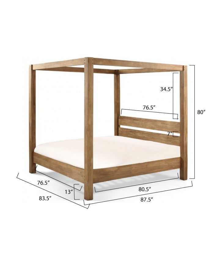 Ana White Build A Minimalist Rustic King Canopy Bed Free And Easy Diy Project And Furniture Plans Canopy Bed Diy Diy Bed Frame Bedroom Diy
