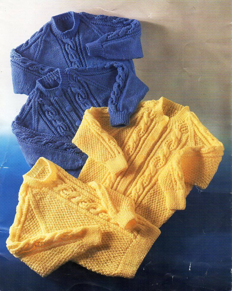 Baby Childrens Aran Sweater Aran Cardigan Knit Pattern Pdf Cable Jumper 20 30 Toddler Knitting Patterns Free Sweater Knitting Patterns Aran Sweater