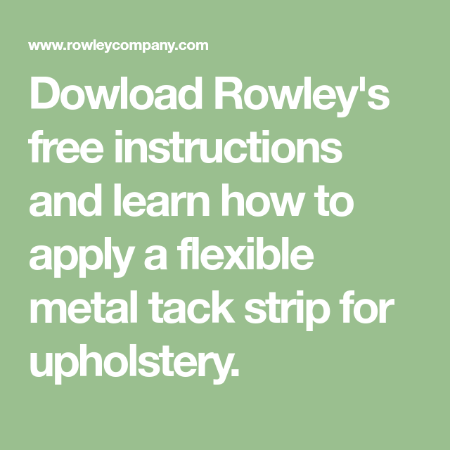 Dowload Rowley S Free Instructions And Learn How To Apply A Flexible