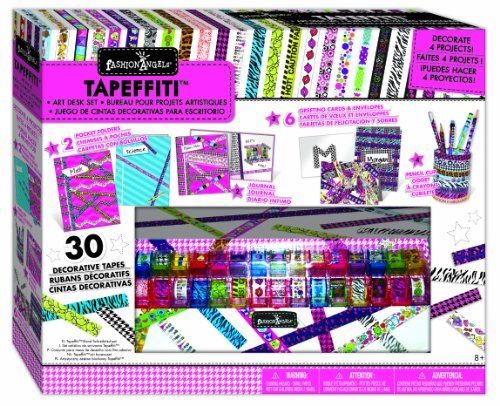 Tapeffiti Art Tape Caddy  Tween Girl Gifts, 7 Year Old -1306