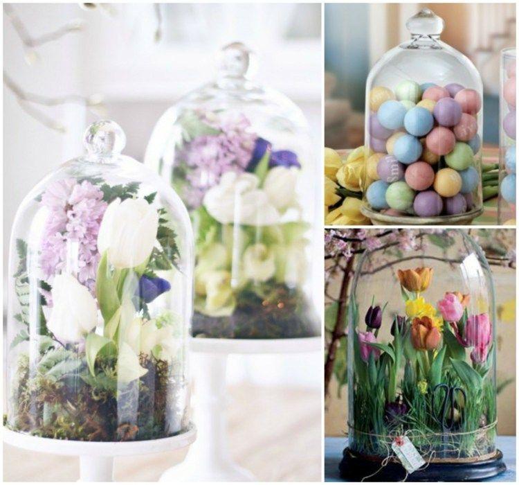 Schöne Tischdeko Selber Machen bunte eier und schöne blumen machen tolle frühlingsdekoration deko