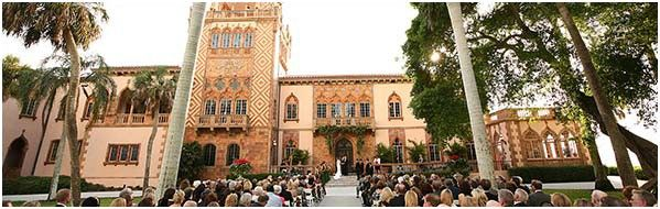 Picturesque weddings at the Ringling Museum in Sarasota, Florida