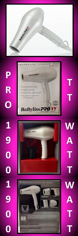 Hair Dryers Babyliss Pro Tt  Tourmaline Titanium Ionic White