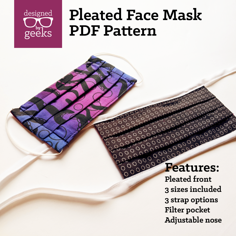 Pleated Face Mask Sewing Pattern PDF in 2020 Sewing