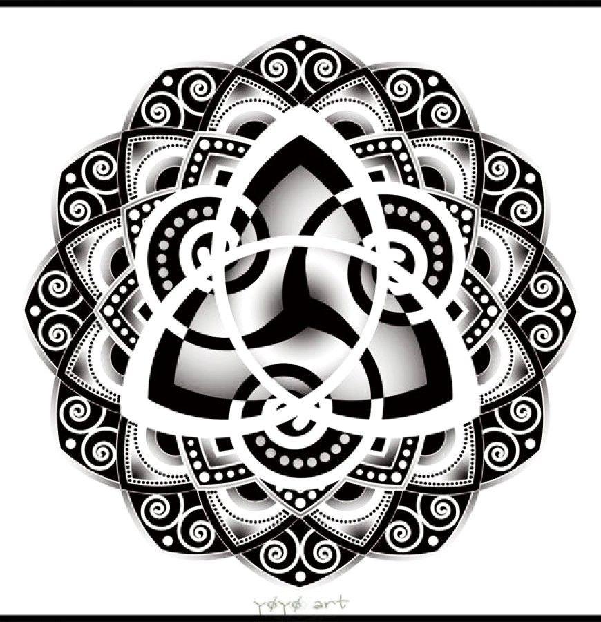 Personalized Celtic Knot Mandala Tattoo Design   Mandala Tattoos Tumblr For  Fashion Girls