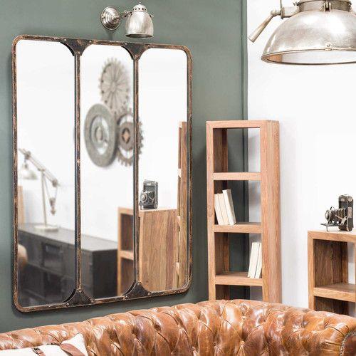 3 teiliger metallspiegel schwarz h 159 cm titouan handsome little devils wandspiegel. Black Bedroom Furniture Sets. Home Design Ideas
